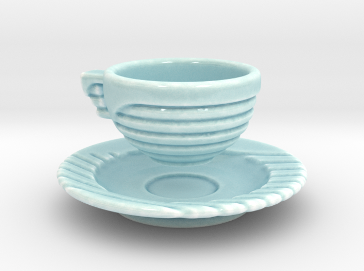 Excelsior Tea Cup and Saucer 3d printed