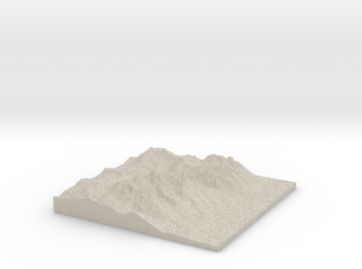 Model of East Prong 3d printed