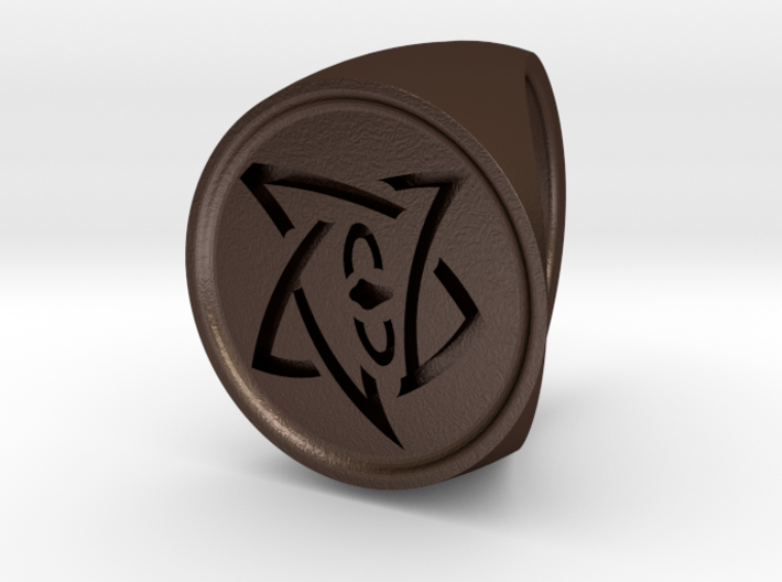 Elder Sign Signet Ring Size 7 3d printed