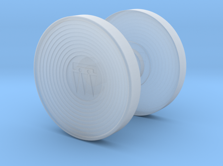 M3X2 Logo Spinner Buttons 3d printed