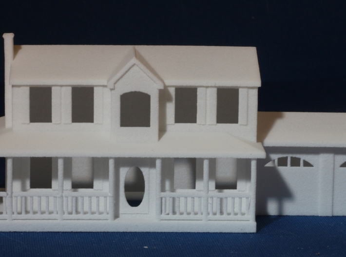 YOUR HOUSE as a Custom Christmas Tree Ornament 3d printed