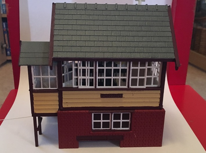 CH71 - Cheddleton Signal box 3d printed An almost completed model
