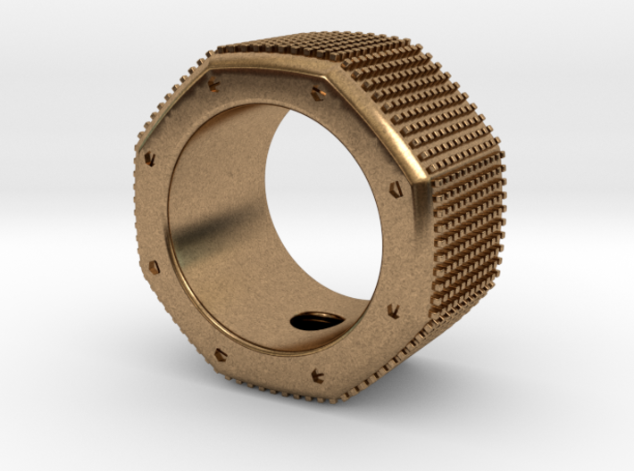 octagon ring with squares Ø17,5mm 3d printed