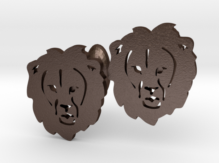 Lion Cufflinks 3d printed