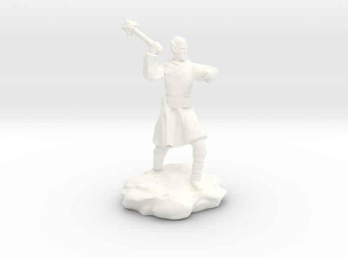 High Elf (Eladrin) Monk With Mace 3d printed