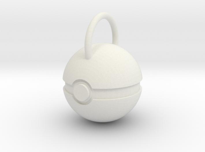 Poke Ball Pendant 3d printed