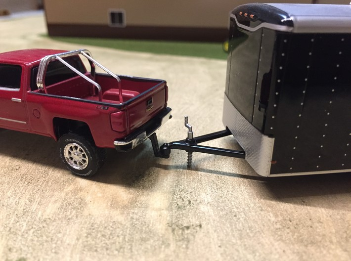 Lifted Greenlight Silverado Trailer Hitch 4 Pack 3d printed