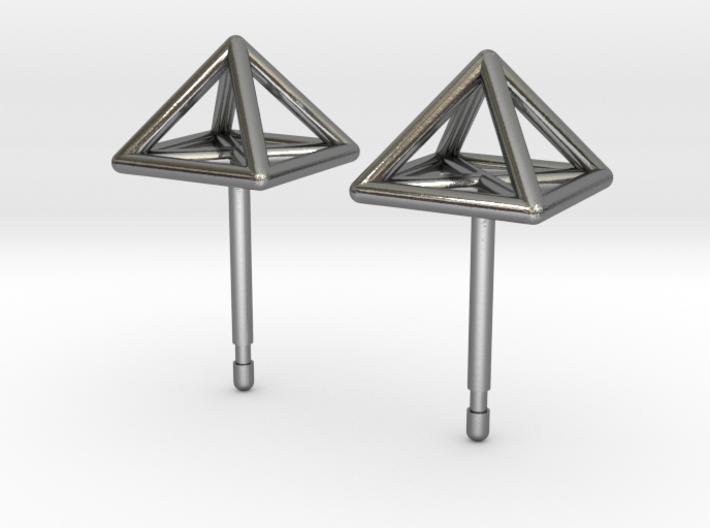 Square Stud Earrings 3d printed