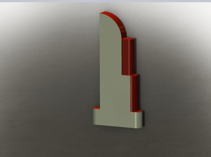Art Deco Sign HO Scale 3d printed Here's a period paint job you can paint your metal Deco sign in. Just add lettering!