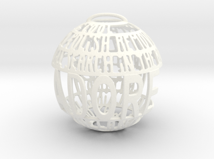 Adore Quotaball 3d printed