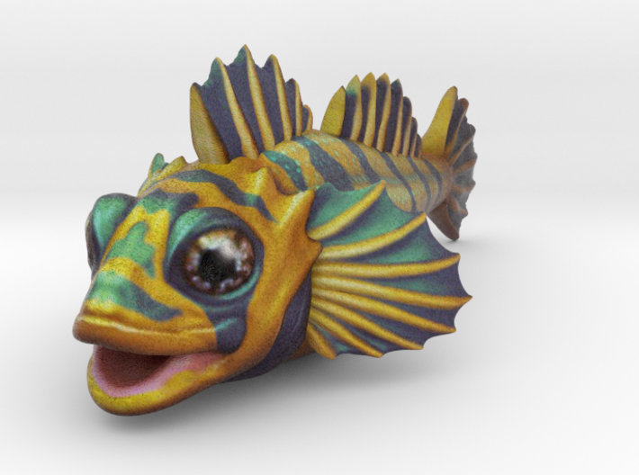 Flipping Fish - Small  3d printed