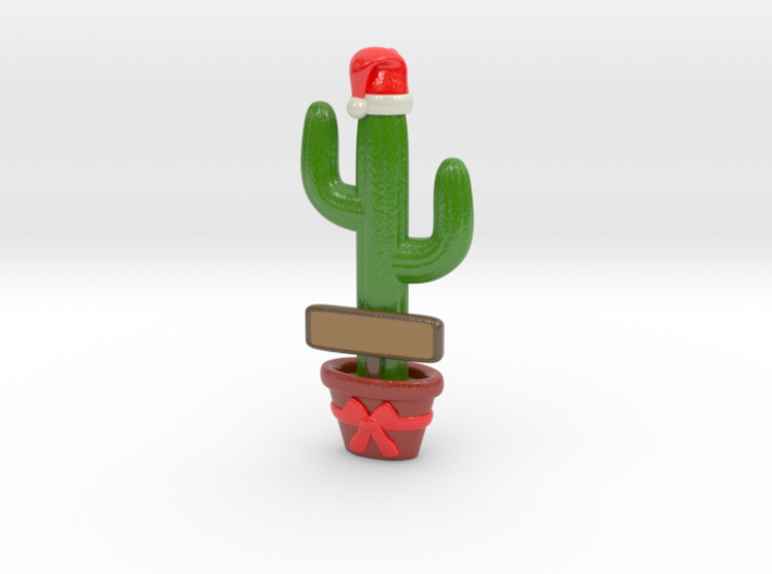 Cactus Christmas Ornament (Customizable!) 3d printed