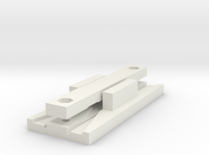 O14 Type 1 Point Frog Rail Cutting Jig 3d printed
