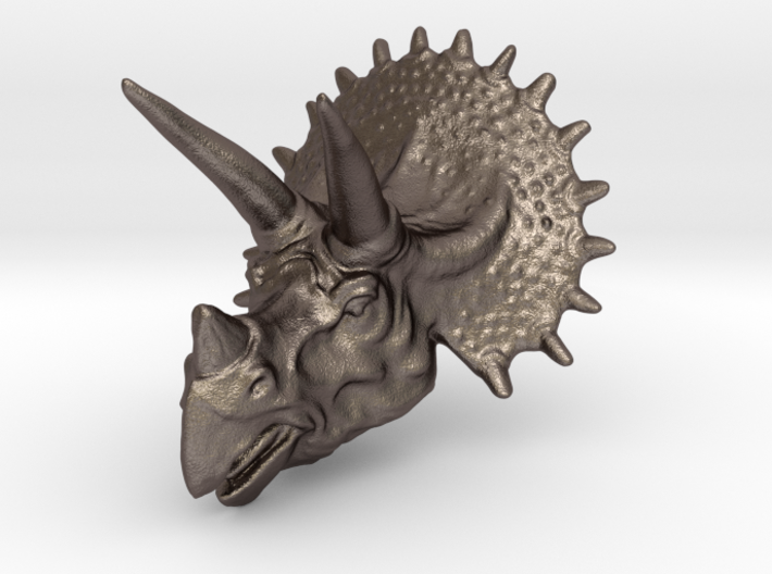 Triceratops Head - Pendant 3d printed