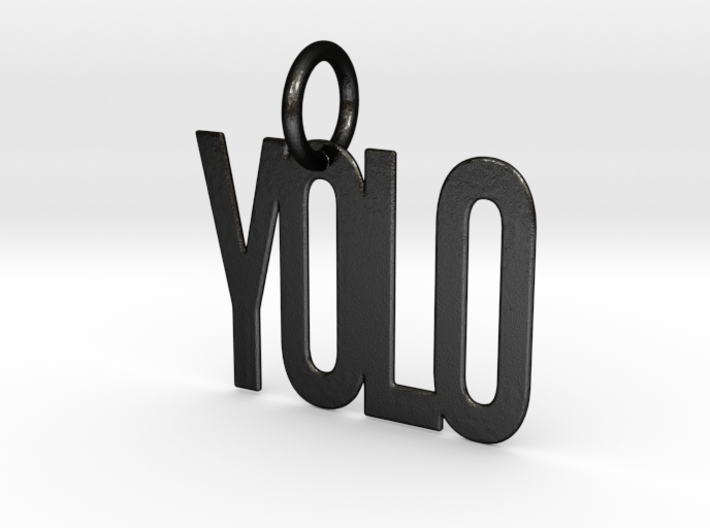 YOLO Keychain 3d printed