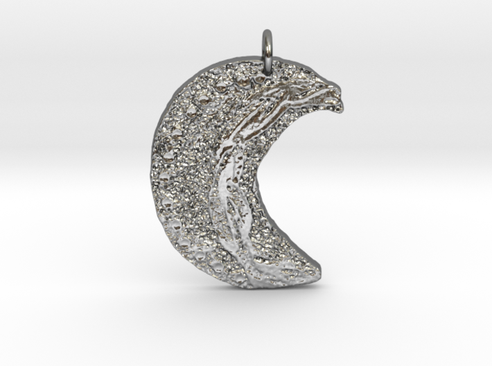 Crescent Moon Goddess Art Deco by Gabrielle 3d printed