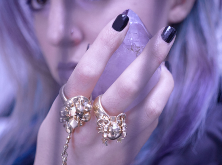 KETHER RING 3d printed THE WEARER WILL CULTIVATE AN INFLUENCE BY CREATING CONTENT THAT IS PURE FIRE.