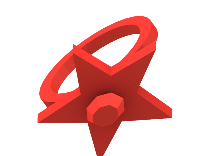 Scarlet Pimpernel Ring red plastic 3d printed