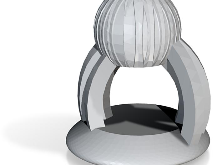 Toe Ring (F) 3d printed