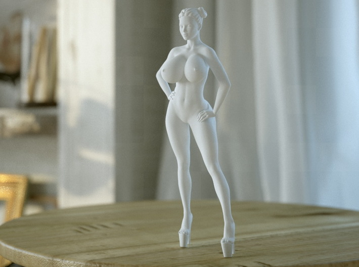 Crazy breast woman 002 3d printed