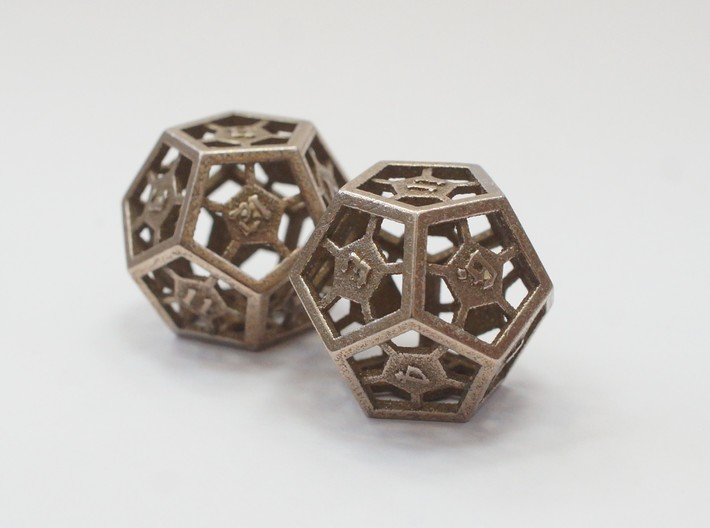 D12 Epoxy Dice 3d printed