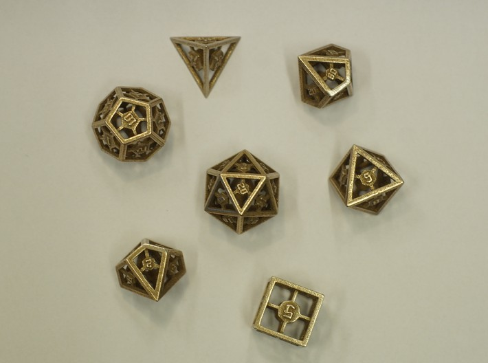 Epoxy Dice Set With Decader 3d printed