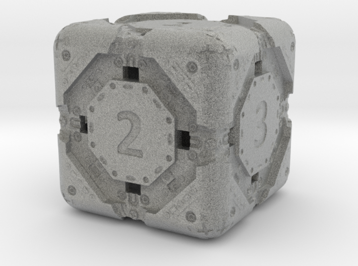 High-Detail Heavy Sci-Fi Dice D6 3d printed