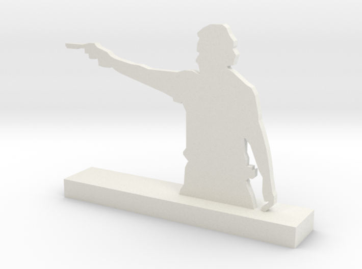 Inspired on 'The Walking dead' Rick Sculpture 3d printed