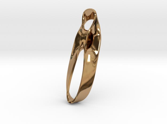 Triple Cube Brass 038 3d printed
