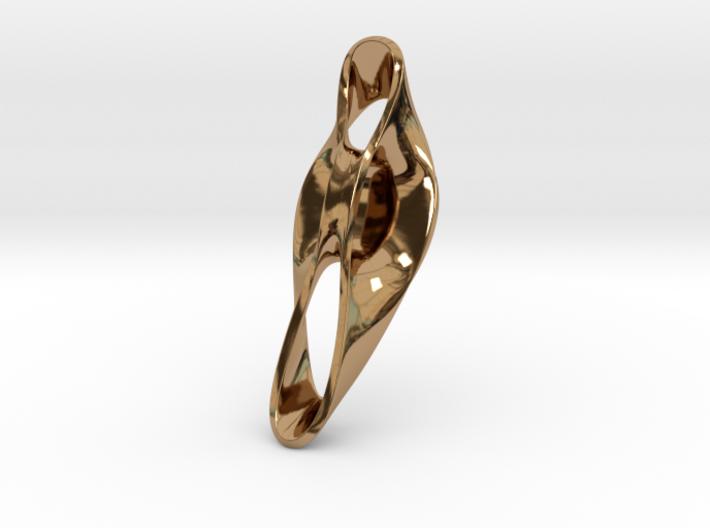Triple Cube Brass 051 3d printed