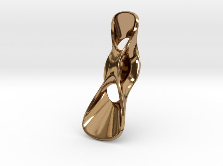 Triple Cube Brass 063 3d printed