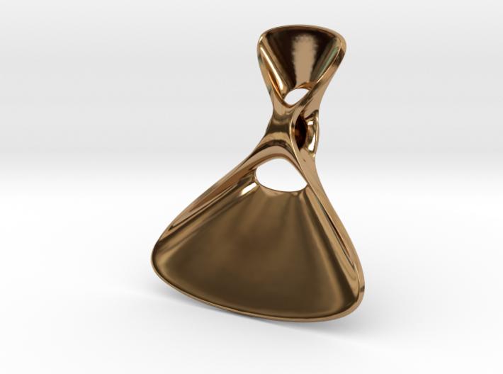 Triple Cube Brass 076 3d printed