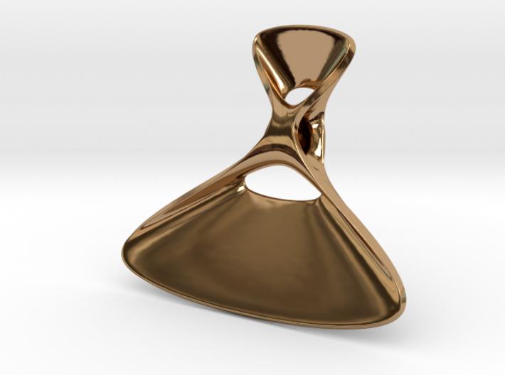 Triple Cube Brass 078 3d printed