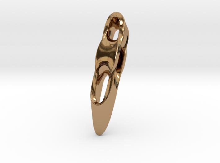Triple Cube Brass 005 3d printed