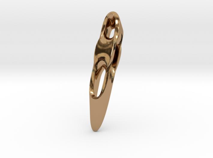 Triple Cube Brass 006 3d printed