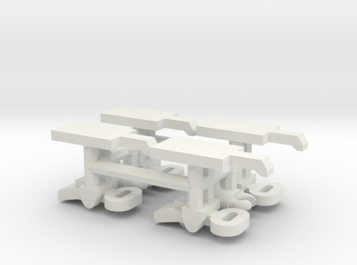 1/16 Turret Bin Clasps (Pz III / IV) 3d printed