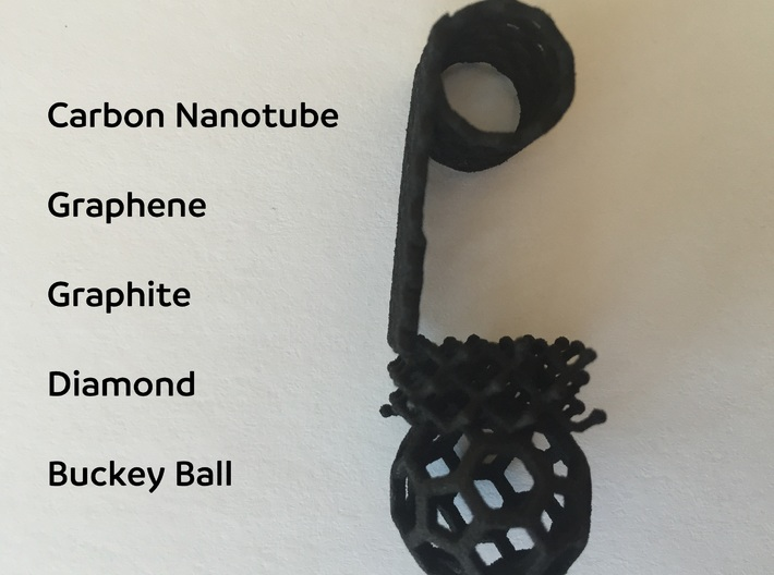 5 Allotrope Pendent  3d printed