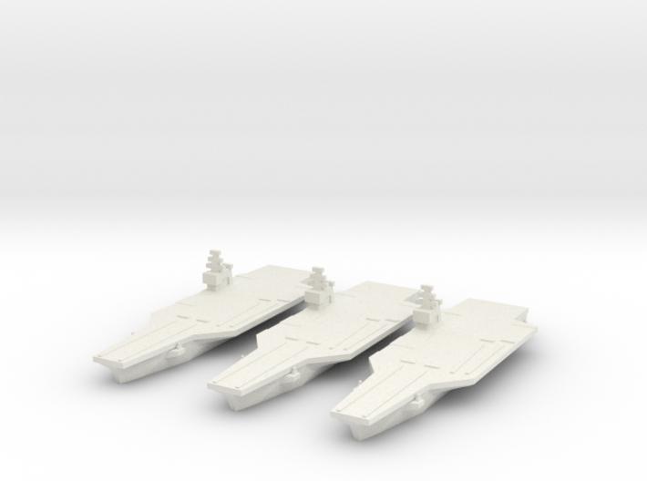 Nimitz class Carrier x3 1/5500 3d printed