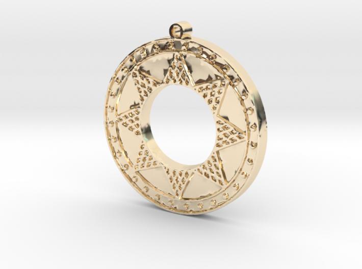 Ancient Sun (solid, raised design) 3d printed