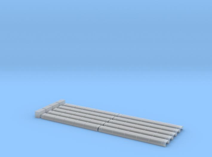 Blechkanal Form II Export 1:22,5 3d printed