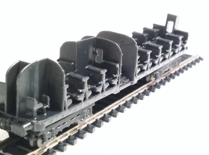 Telaio Ln664 e Le640 3d printed Telaio con interni poggiato sui carrelli.
