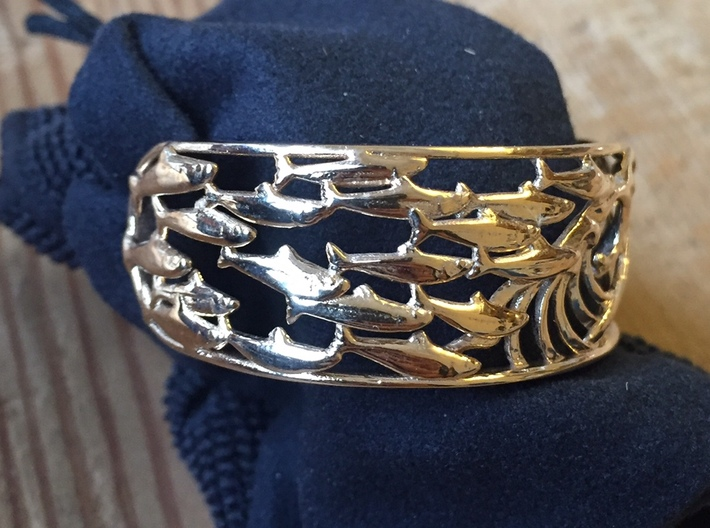 sardine cuff size small 16cm 3d printed side view