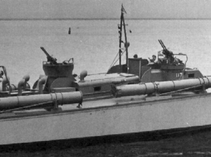 1/48 Mk.18 Torpedo Tube Turntables and Slides 3d printed
