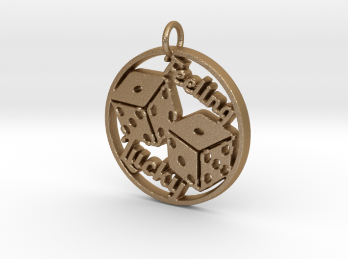 Feeling Lucky Dice Pendant 3d printed