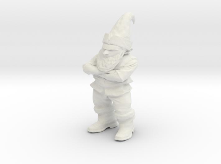 Petrified Grumpy Gnome 3d printed