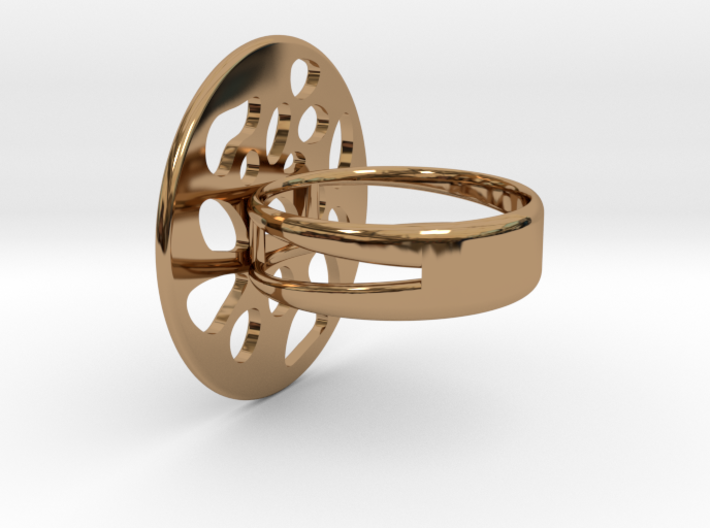 RING LOBULAR Size 7 3d printed