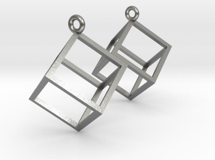 Cube Earrings 3d printed