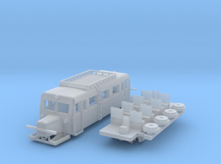 Wismarer Schienenbus 1:200 3d printed