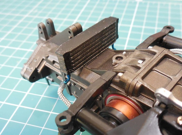 Oil cooler for the 1/8 MP4/4 Kyosho/DeAgostini mod 3d printed