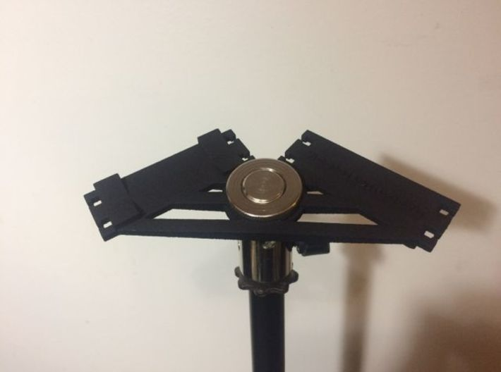 ORTF Universal Mic Clip 3d printed ORTF Universal Mic Clip - Mics swivel mount and elastics not included.
